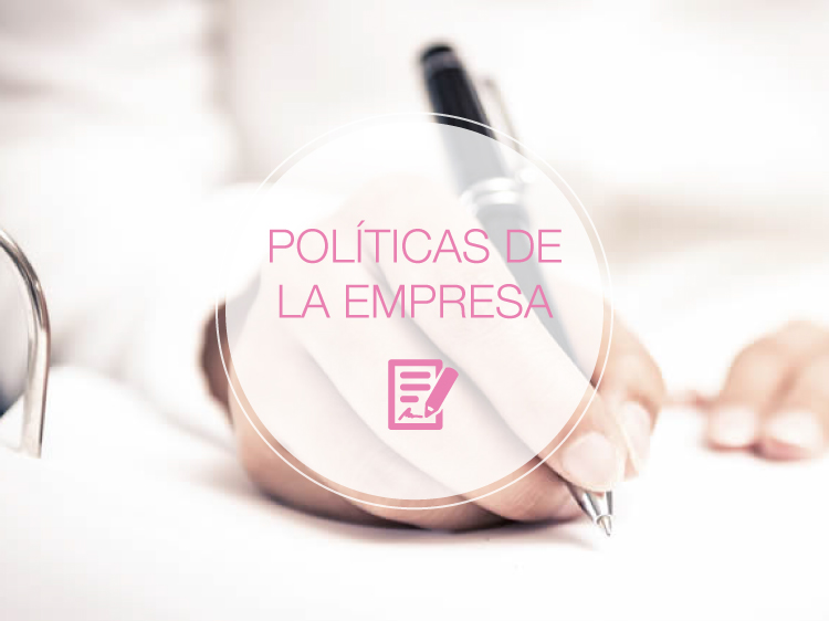 políticas de la empresa