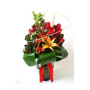 arreglo floral en florero