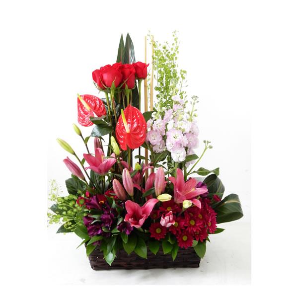 Arreglo Floral En Canasta 1